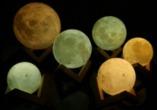 Imagen destacada de las lámparas de luna